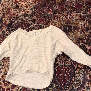Free people cream sweater mid-sleeve